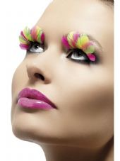 Neon Feathers Eyelashes